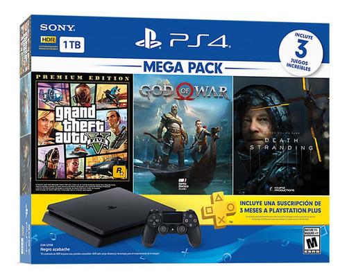 Sony Playstation 4 Slim 1tb Mega13 3 Juegos Ps Plus Joystick