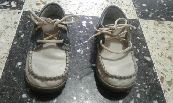 Zapato Cuero Nautico Niño. Usado