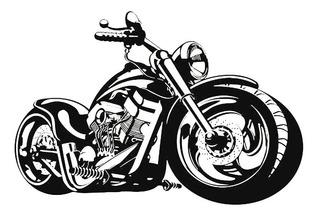 Adesivo Parede Moto Grande Harley Davidson Chopper