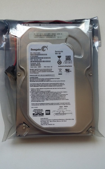 Hd 500 Gb Seagate Sata 3 7200rpm Sata-2-dvr Pc Barracuda 3,5