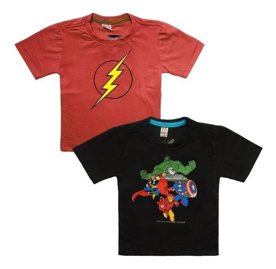 Kit 10 Camisa Infantil Com Manga Blusa Menino Blusinha