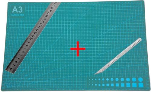 Imagen 1 de 6 de Base Tabla Tablero  D/ Corte A3  45 X 30 Cm + Regla Bisturi