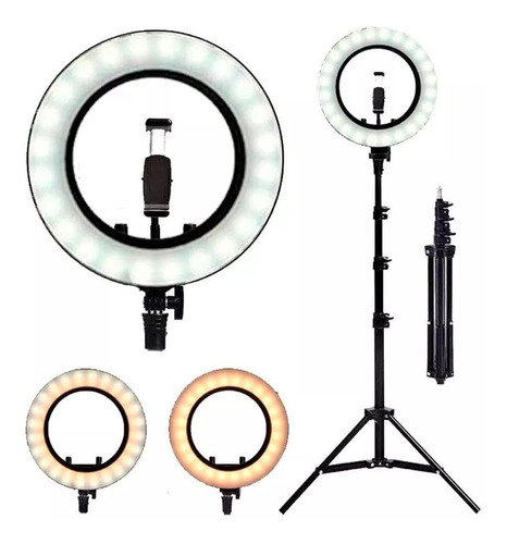 Iluminador Ring Ligth Anel Luz 26cm Tripé 2.1m Led Fotos Mak
