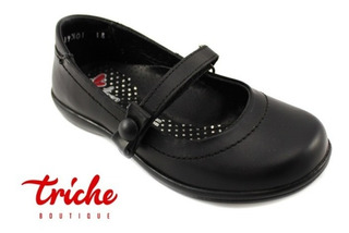 Calzado Zapato Niña Coloso Negro 13319 Choclo Escolar