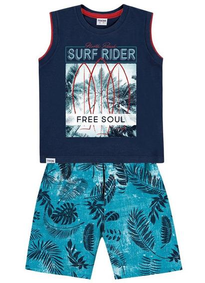 Conjunto Regata E Bermuda Surf