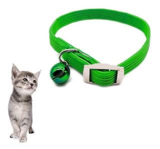 Collar Para Gatos Elastizado Con Cascabel Removible