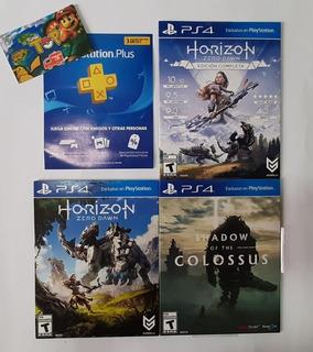 Ps4 , Horizon Zero , Plus 3 Meses, Horizon Dlc - Tiendatopmk
