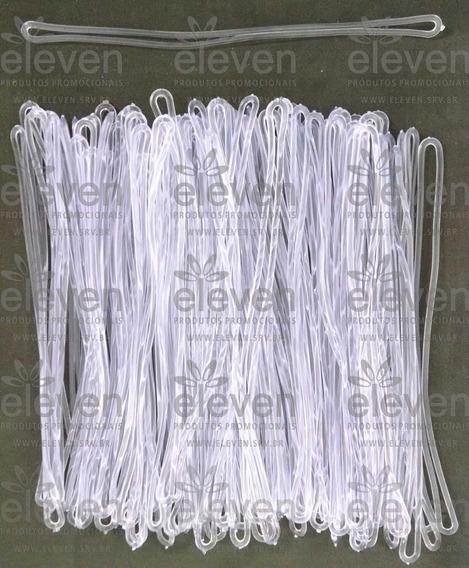Cordão Transparente Alça Tag Bagagem Silicone (1.000 Uni)p