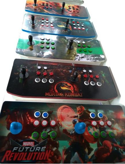 Bancada Fliperama Arcade Adesivada Usb Para Ps3 Pc Raspberry