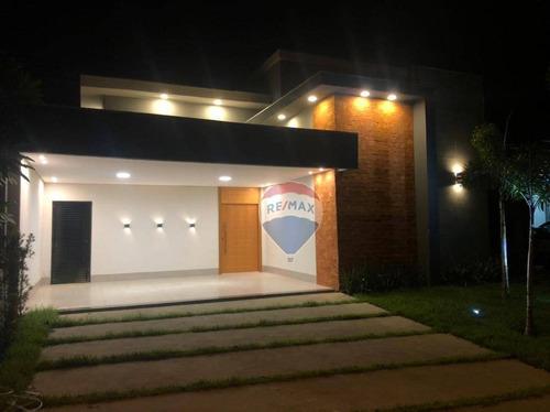 Casa Nova Térrea, À Venda, Condomínio Belvedere I, Cuiabá/mt - Ca1088