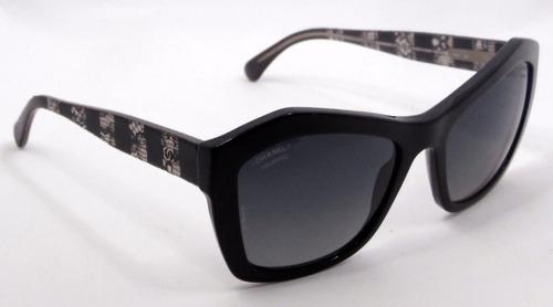 a3572117cb Lentes Sol Chanel 5296 Negros Gris Degradé Polarizados Italy