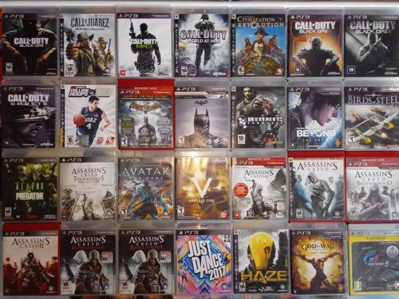 Pacote De 5 Jogos Ps3 A Sua Escolha Playstation Midia Fisica