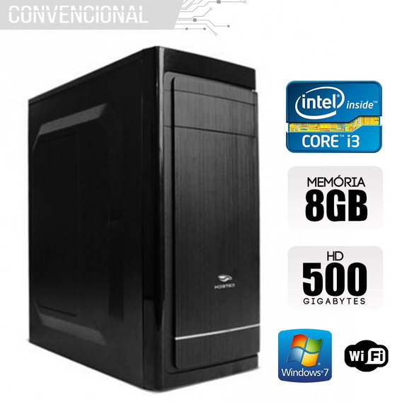 Computador Intel Core I3 3210 8gb 500gb Windows 7