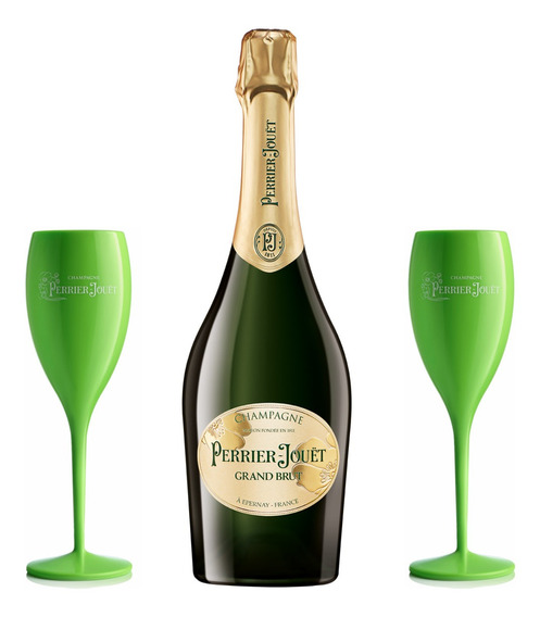 Champagne Perrier-jouët Grand Brut 750ml + 2 Taça Acrílica