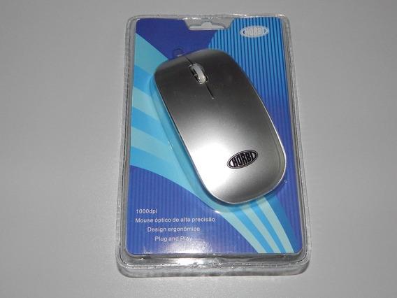 Mouse Óptico Usb De Alta Precisão Cinza Escuro