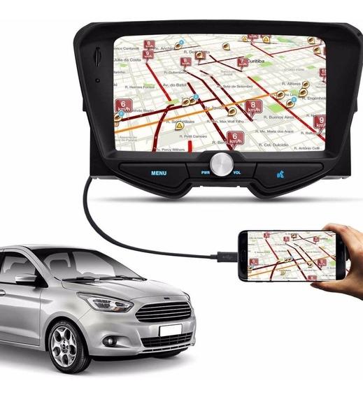 Central Multimídia Ka Sedan 14 A 18 Bt Usb Espelha Waze Uber