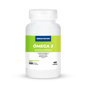 Omega 3 Newnutrition 1000mg 120 Cápsulas