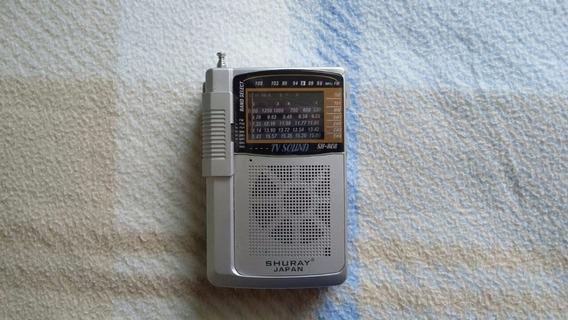 Rádio Portátil Fm/tv Shuray Japan