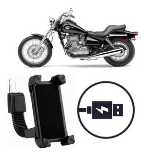 Suporte Carregador Celular Moto Kawasaki Vulcan En 500 Ltd