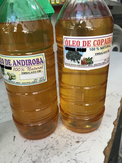 Copaíba E Andiroba 100% Puras 1l Frete Grátis