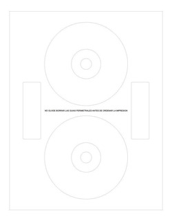 Etiquetas Autoadhesivas Para Cd Dvd 200 Unidades