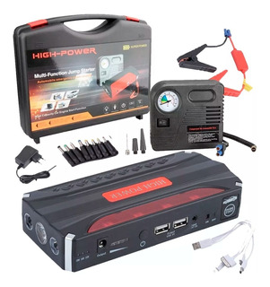Partidor Cargador Bateria Auto + Inflador Compresor Aire