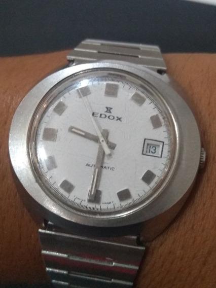 Relógio Antigo Edox Automático Enorme