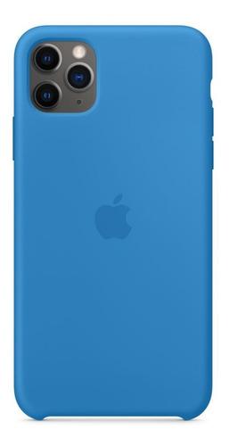 Imagem 1 de 1 de Capa Capinha Case Silicone iPhone 11 Pro Max+ 1 Película