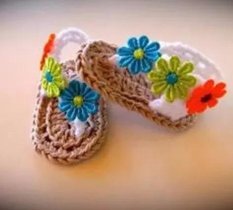 Sandalitas De Bebe Artesanales(c/bolsa De Regalo)