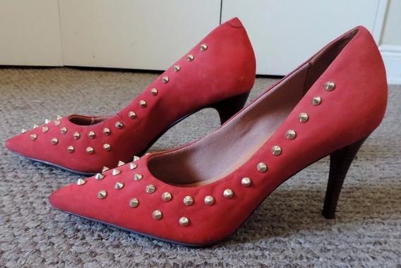Zapatos Gamuza Con Tachas
