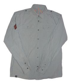 Worldoftanks Camisa Casual De Caballero X L Fit L Nueva Gris