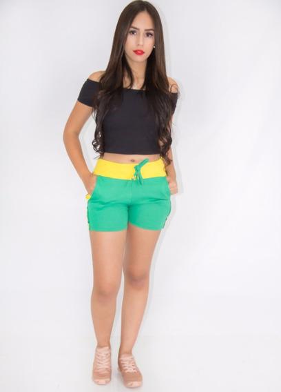 Kit 2 Shorts Tipo Moletom Moda Coloridos Promoçao