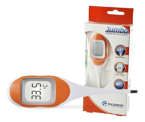Termômetro Clínico Visor Grande Laranja Inmetro Incoterm