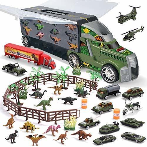 Joyin Camion Transportador De Dinosaurios Con 12 Dinosaurios