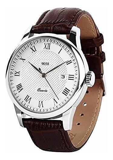 Reloj De Pulsera De Cuarzo Para Hombre, Numero Romano, Reloj
