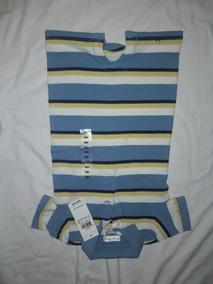 Mameluco Bebé Ralph Lauren Rayas Azul Talla 9 Meses