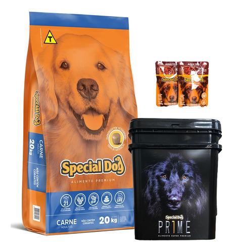 Comida Perro Adulto Special Dog 20 Kg + Contenedor + Regalos