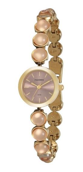 Relógio Mondaine Feminino Dourado 99258lpmdm2 1 Ano.
