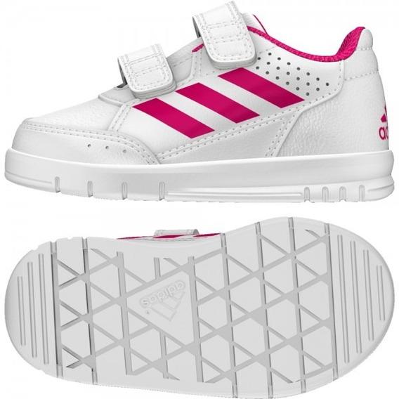 Tenis adidas Escolar Niñas Blanco Rosa Alta Sport Cf Ba9515