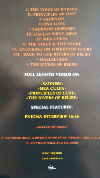Dvd Enigma Mcmxc A.d.