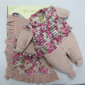 Saida Maternidade Plush Bebe Menina Bela Fase Cod 5307
