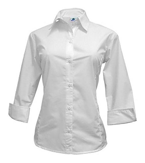 Camisa Dama Lisa Uniforme O Bordada Con Logo Por Mayor