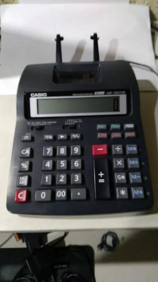3 Calculadora De Mesa Casio Com Impressão Hr-100/150tm Usada