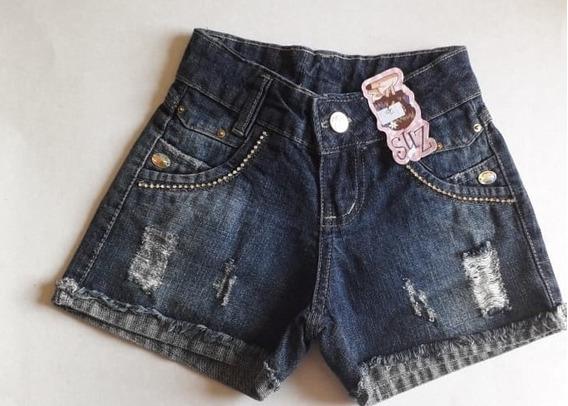 Short Jeans Infantil Meninas Feminino Tamanho 10-12-14