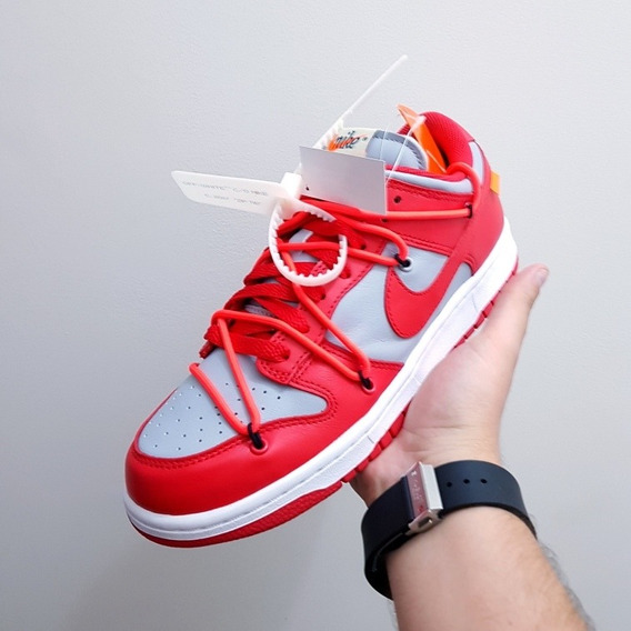 Dunk Low Off-white - University Red - 39br