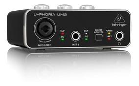 Interface De Audio U-phoria Um2 - Behringer + Nf + Garantia