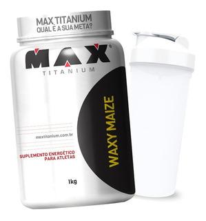 Carboidrato Waxy Maize 1000g Max Titanium + Brinde