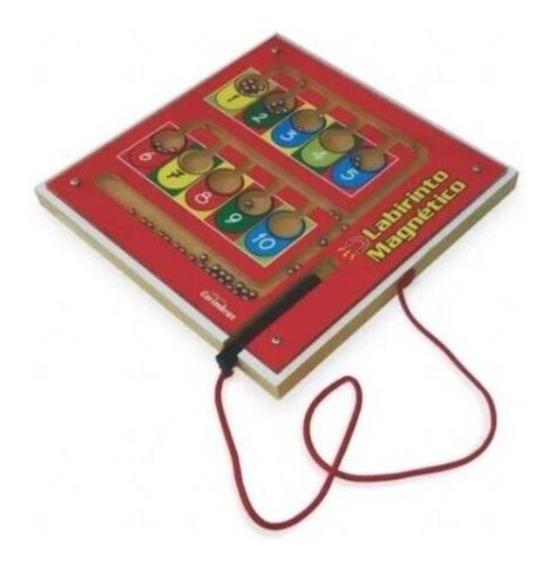 Brinquedo Educativo Jogo Labirinto Magnético Crianças