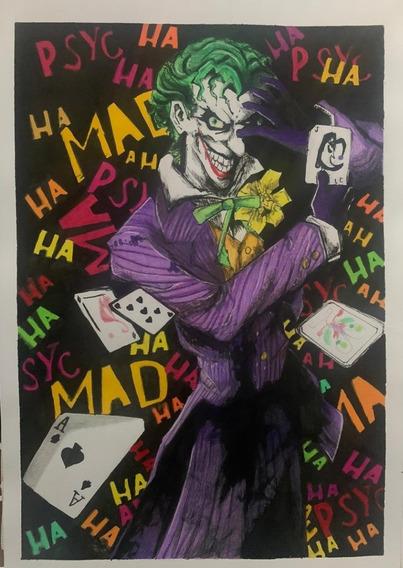 Dibujo De Joker/guason Echo A Mano