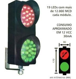 Semáforo De Liberação Vermelho/verde 19 Led